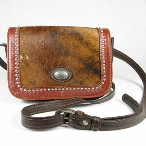 American West Cowhide Leather Crossbody Purse